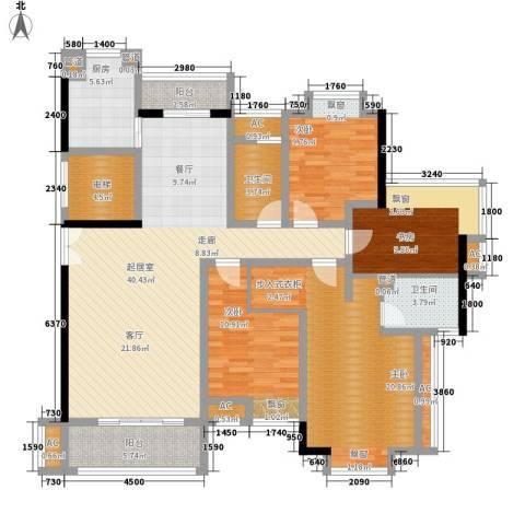 联泰香域滨江4室0厅2卫1厨144.00㎡户型图