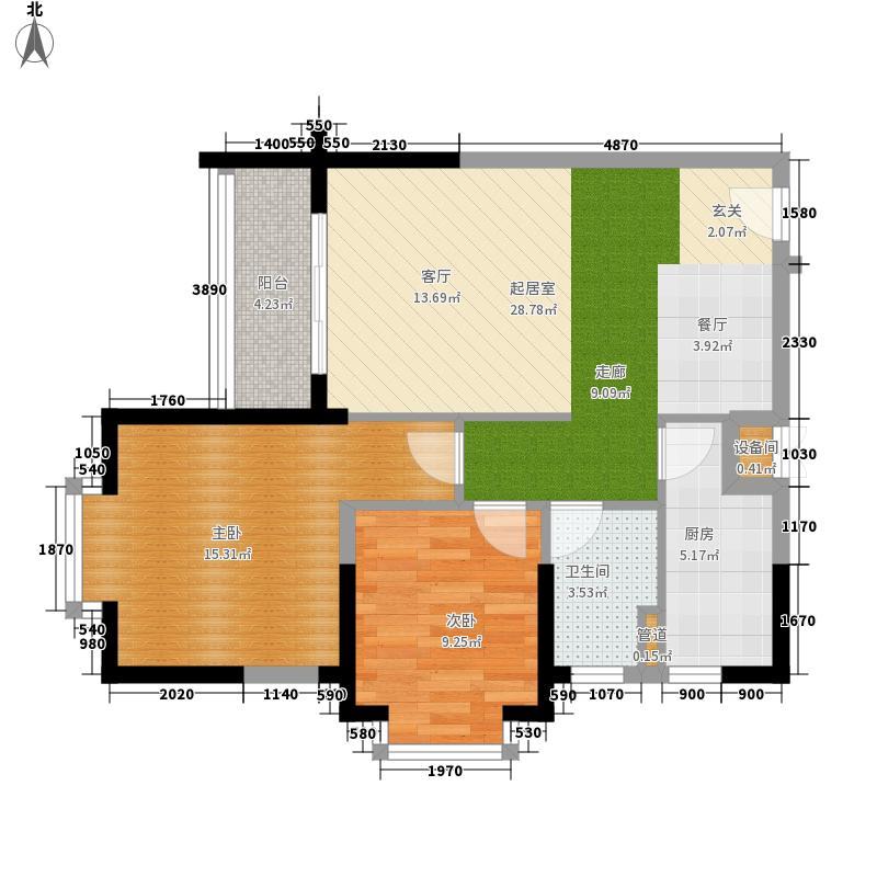 金地雅居88.21㎡金地雅居户型图C户型2室2厅1卫1厨户型2室2厅1卫1厨