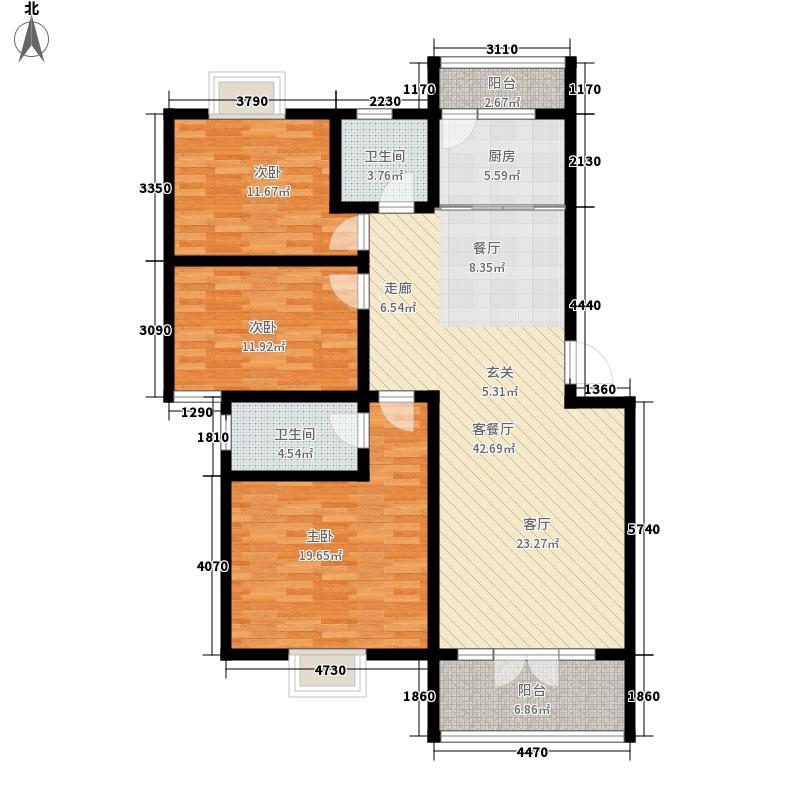 城南春天125.20㎡F-1、F-2户型3室2厅2卫1厨