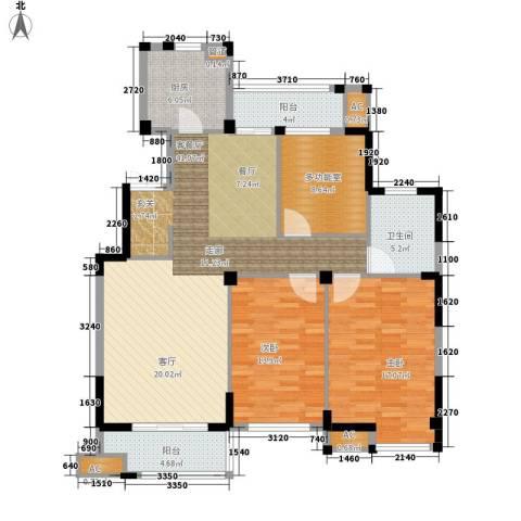 海棠湾花园2室1厅1卫1厨116.00㎡户型图