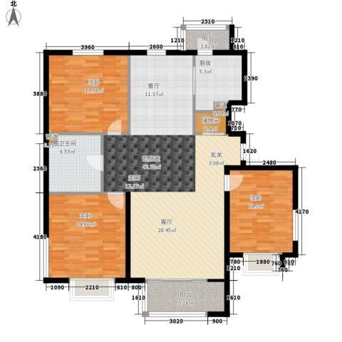 银河家园3室0厅1卫1厨120.00㎡户型图