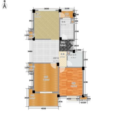 通和都市枫林2室0厅1卫1厨116.00㎡户型图