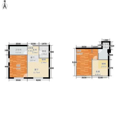 悦泰街里项目2室0厅2卫1厨103.00㎡户型图
