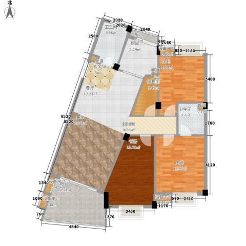通和都市枫林3室0厅2卫1厨147.00㎡户型图