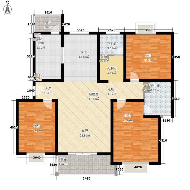 明丰公寓164.00㎡明丰公寓4室户型4室