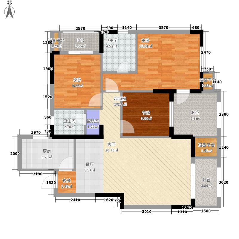 星悦城121.00㎡B2户型3室2厅