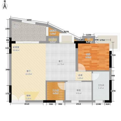 海韵假日休闲公寓1室0厅1卫1厨86.00㎡户型图