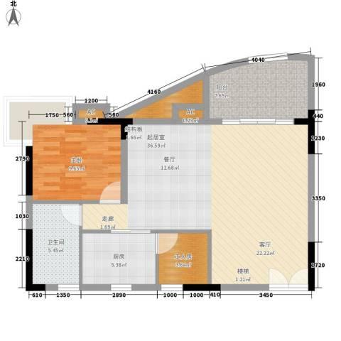 海韵假日休闲公寓1室0厅1卫1厨181.00㎡户型图