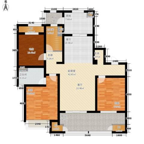 武进吾悦广场3室0厅2卫1厨140.00㎡户型图