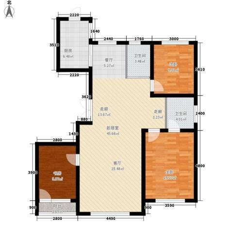 像素公园3室0厅2卫1厨140.00㎡户型图