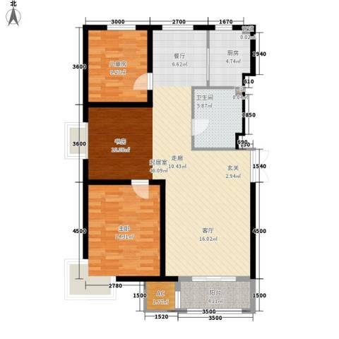 明华西江俪园2室0厅1卫1厨116.00㎡户型图