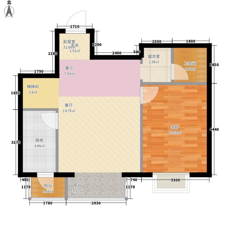 鸥洲145.15㎡小高层E跃层户型3室3厅