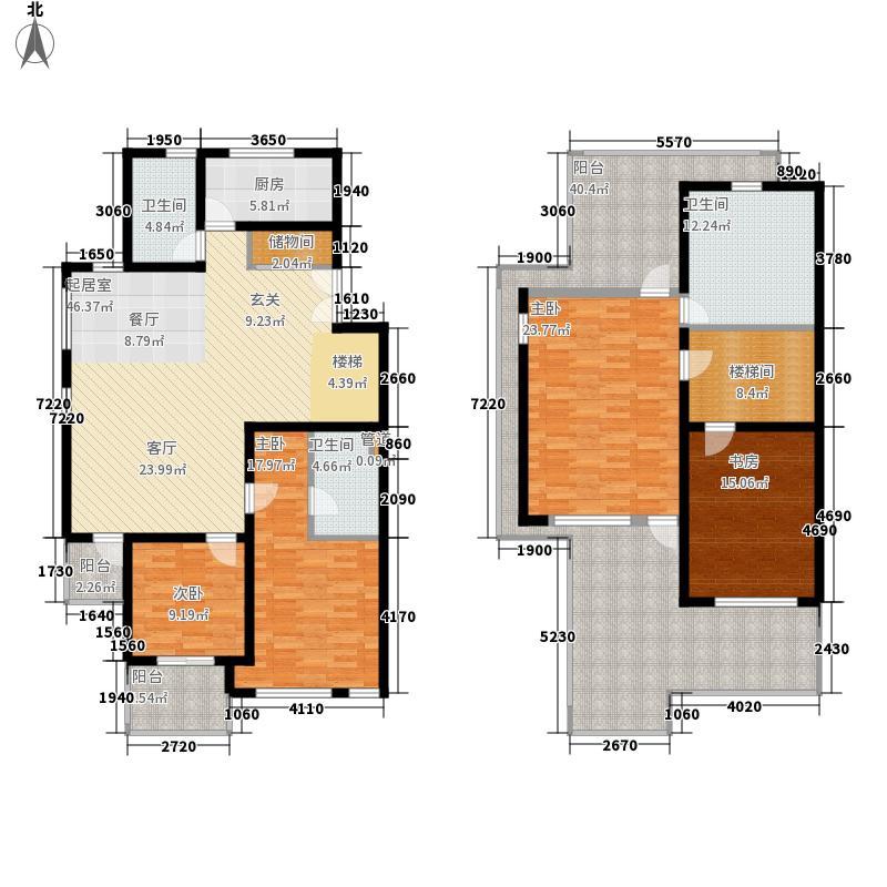 万科白马花园223.39㎡万科白马花园户型图4室2厅3卫1厨户型10室