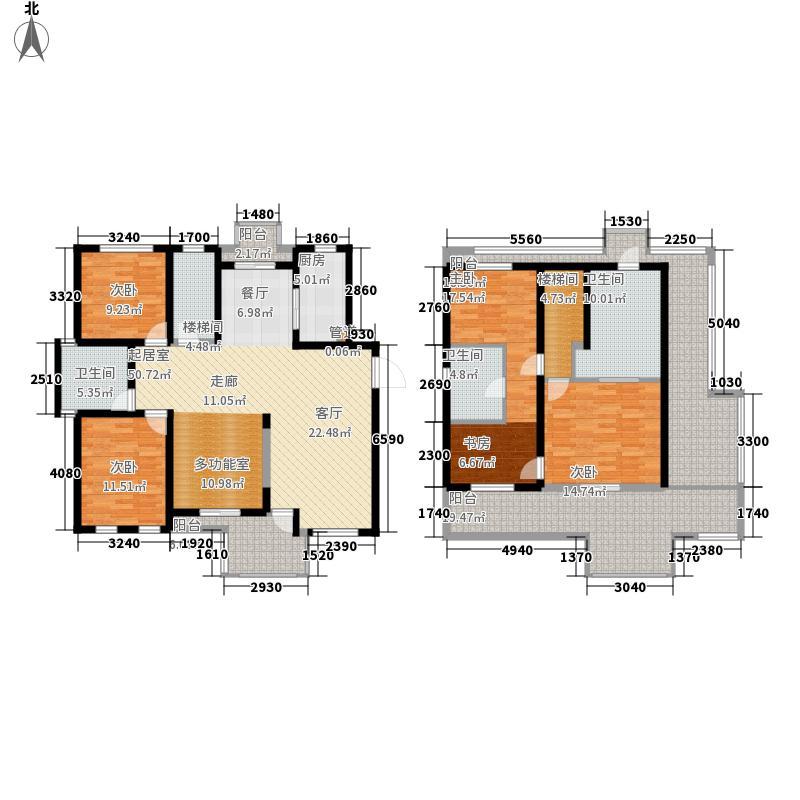 万科白马花园213.35㎡万科白马花园户型图5室3厅3卫1厨户型10室
