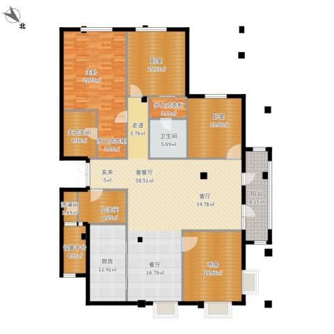 绿城御园2室1厅2卫1厨243.00㎡户型图