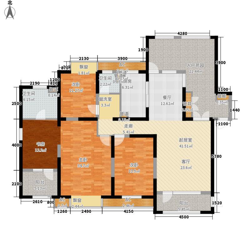 金地长青湾・丹陛174.00㎡金地长青湾・丹陛3户型图户型-售完4室2厅2卫1厨户型4室2厅2卫1厨