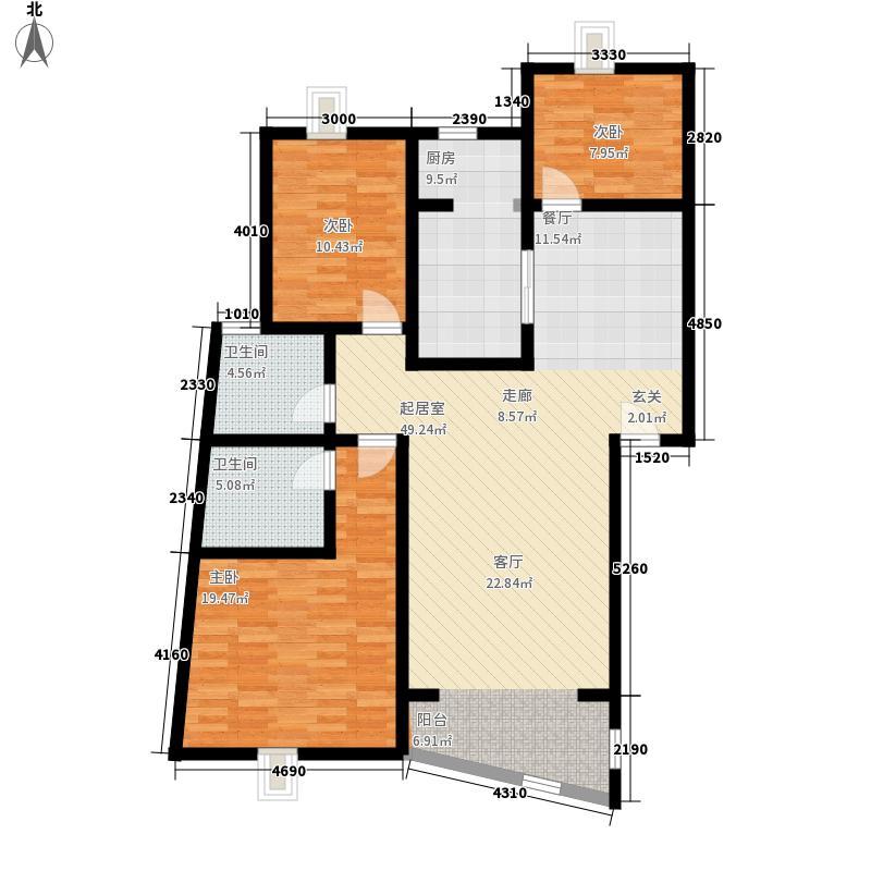 水晶苑121.00㎡水晶苑户型10室