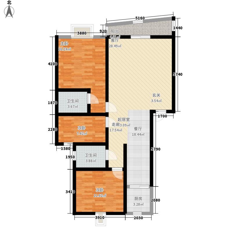 水晶苑116.00㎡水晶苑户型图户型图3室2厅2卫1厨户型3室2厅2卫1厨