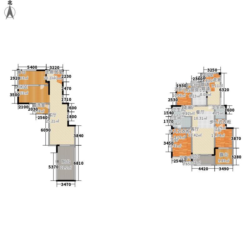 金科廊桥水岸260.00㎡金科廊桥水岸户型图一期15#B户型3室2厅4卫户型3室2厅4卫
