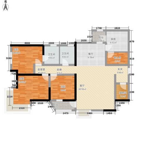莲花苑4室0厅2卫1厨148.00㎡户型图