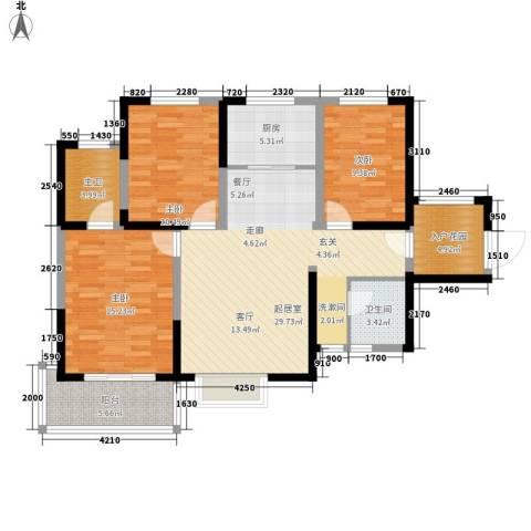 �秀天下3室0厅1卫1厨115.00㎡户型图