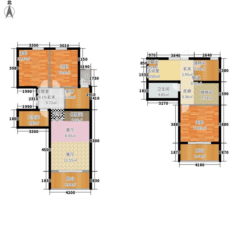 鸥洲152.22㎡小高层D跃户型3室3厅