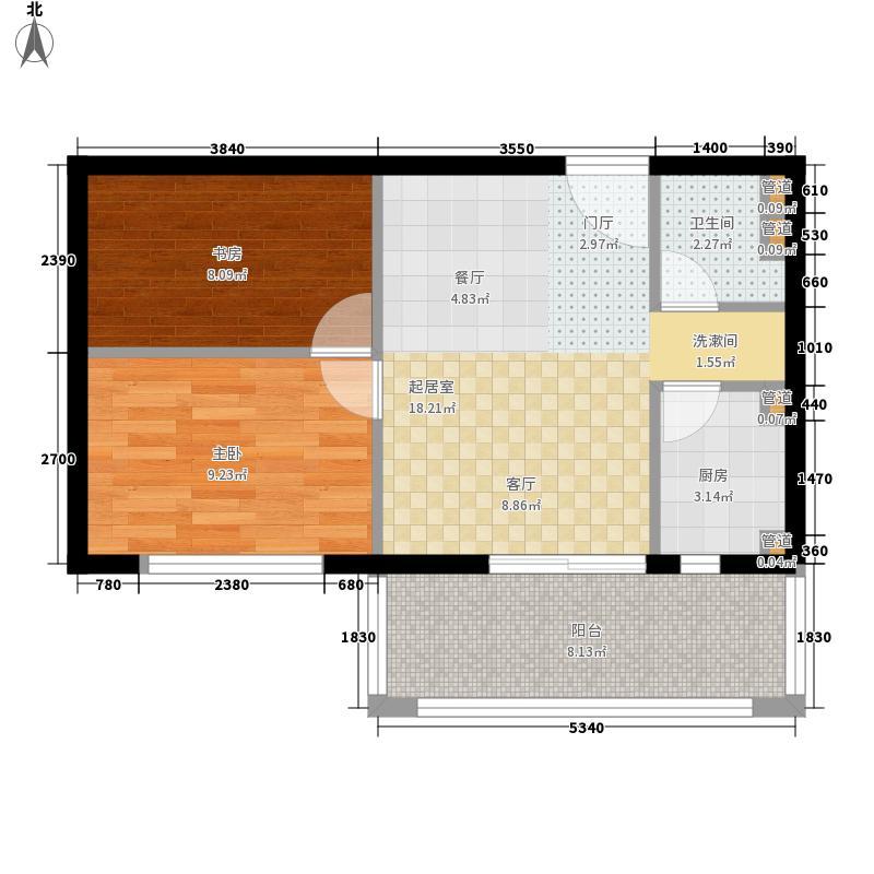 置城8号公馆56.59㎡置城8号公馆户型图B标准层B22室2厅1卫户型2室2厅1卫