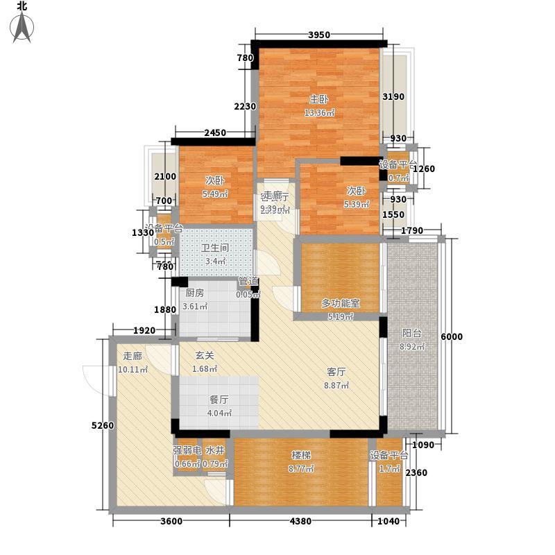 御龙湾87.86㎡御龙湾户型图4座B户型08单位3室2厅1卫1厨户型3室2厅1卫1厨