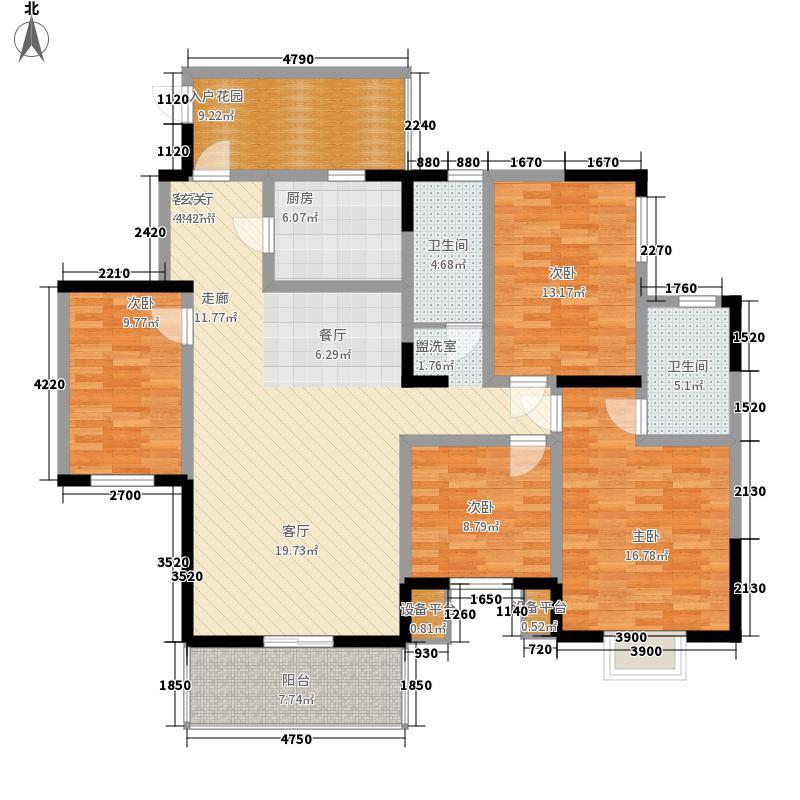 智慧龙城三期151.60㎡智慧龙城三期户型图E1户型图4室2厅2卫1厨户型4室2厅2卫1厨