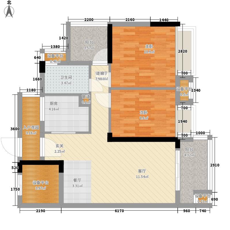 御龙湾82.70㎡御龙湾户型图5座B户型06单位2室2厅1卫1厨户型2室2厅1卫1厨
