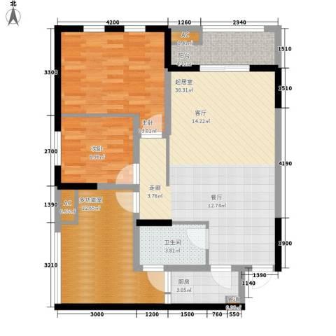 御锦江都2室0厅1卫1厨109.00㎡户型图