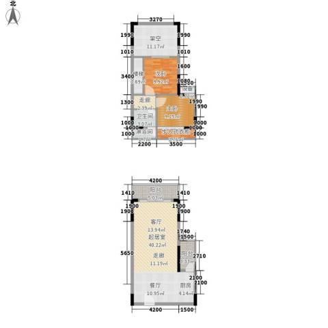 财信弗瑞登2室0厅1卫0厨92.24㎡户型图