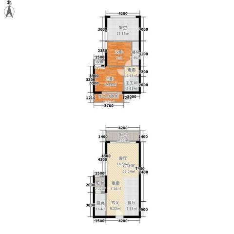 财信弗瑞登2室0厅1卫1厨90.26㎡户型图
