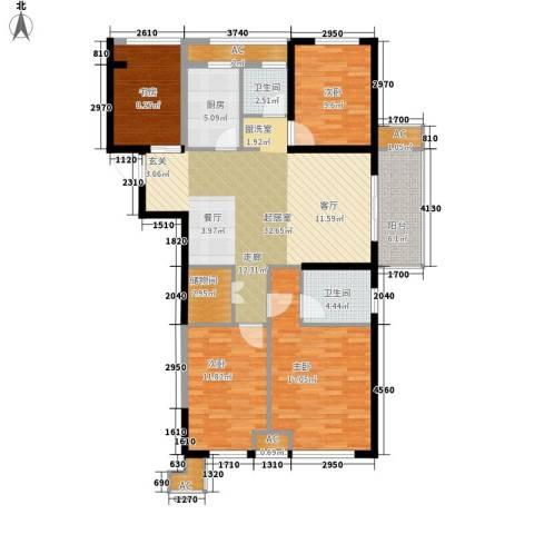 天正理想城4室0厅2卫1厨120.00㎡户型图