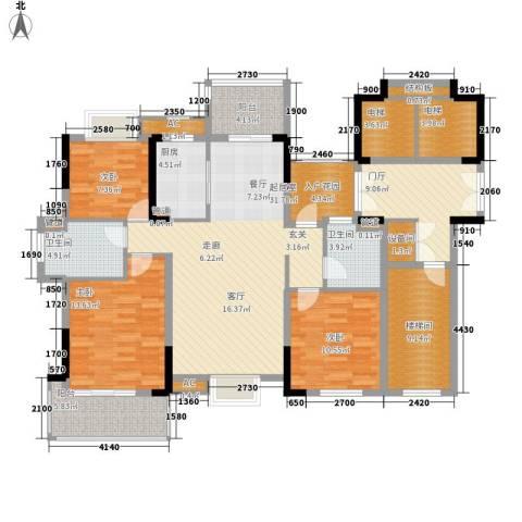 香滨半岛3室0厅2卫1厨140.00㎡户型图