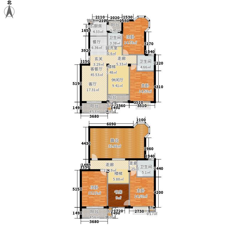 城南春天221.12㎡H1-3a户型6室2厅3卫1厨