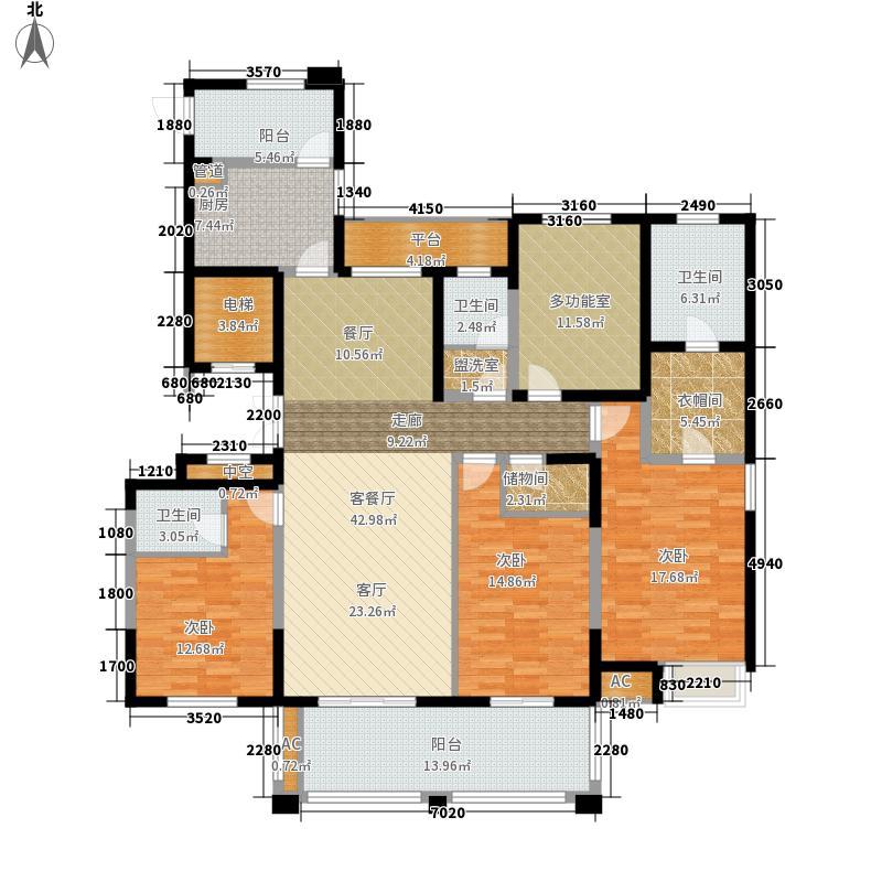 百乐广场183.64㎡G1户型3室2厅3卫面积183.64平方米户型3室2厅3卫1厨