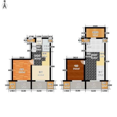 高力国际SOHO2室2厅1卫0厨127.24㎡户型图