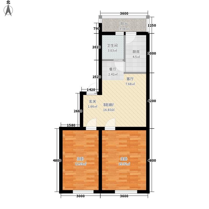 宏庭伟岸79.56㎡宏庭伟岸户型图2室2厅1卫户型10室