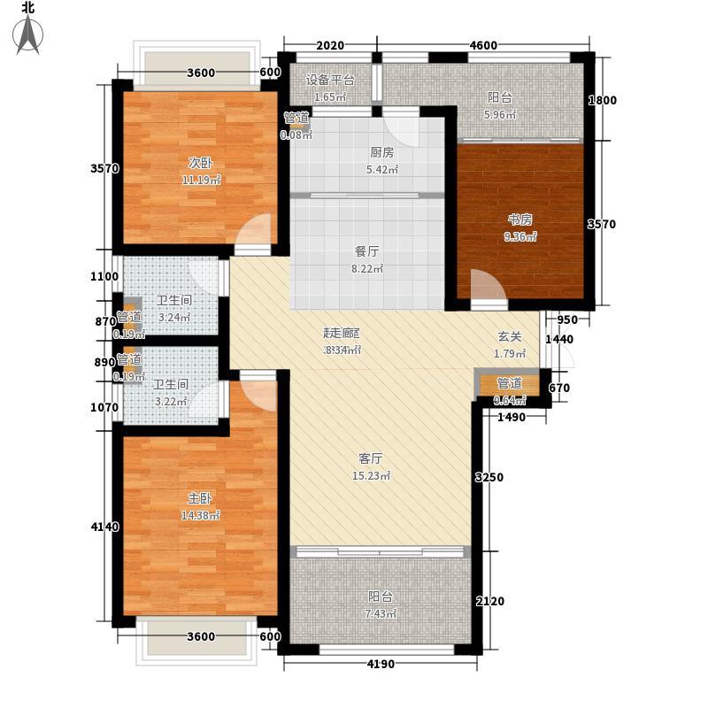 祥云国际128.00㎡东一区9号、10号楼B1户型3室2厅