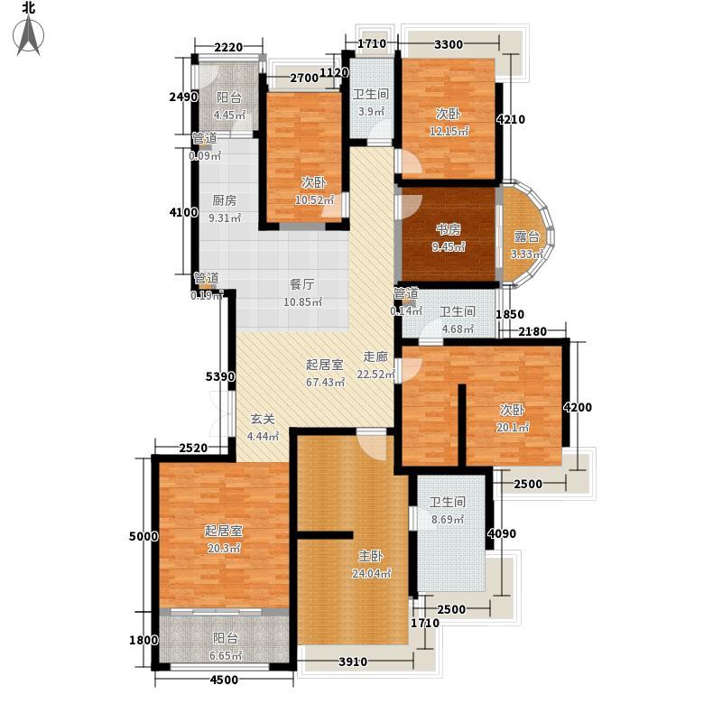 祥云国际228.42㎡一期户型5室2厅