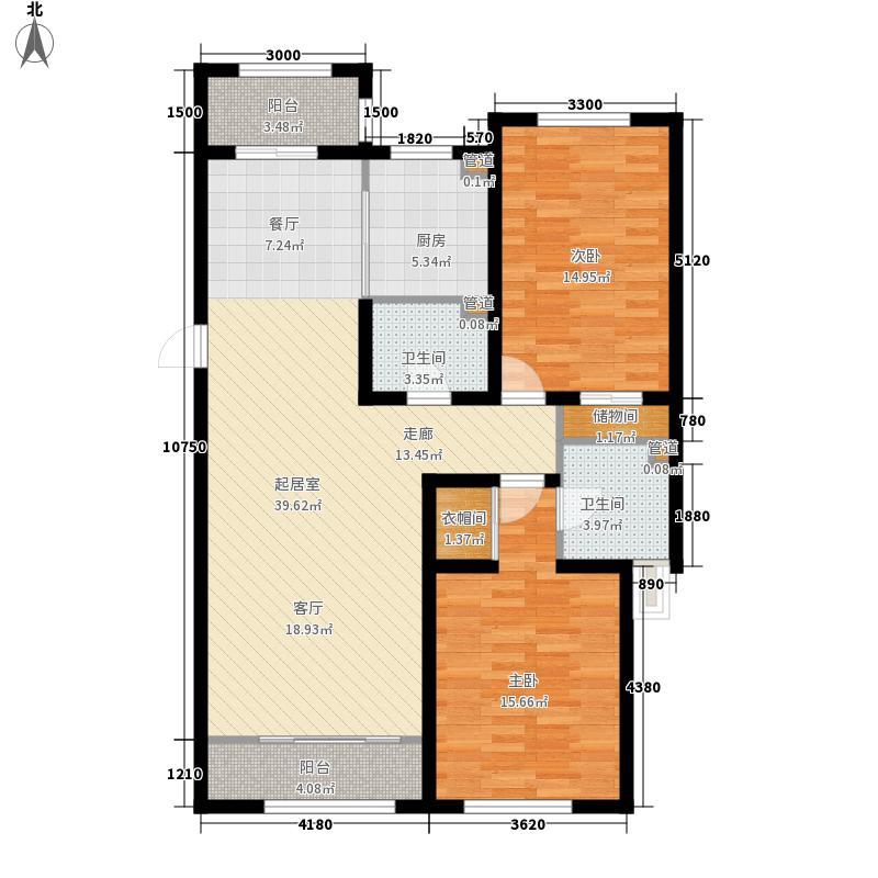 阅江山88.26㎡阅江山户型图户型E2室2厅2卫1厨户型2室2厅2卫1厨