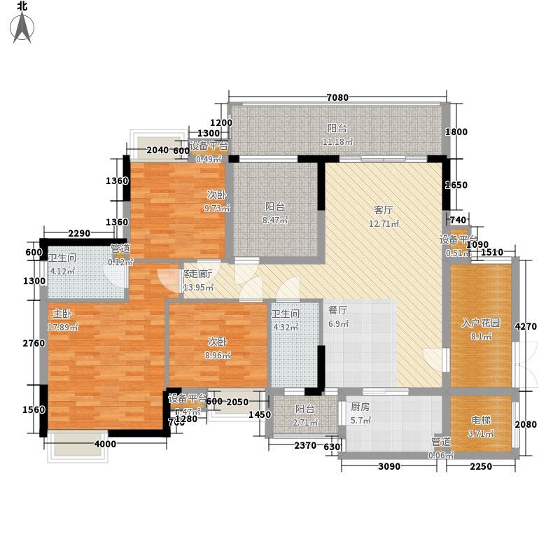 中泰峰境114.80㎡中泰峰境户型图A4栋1座02户型4室2厅2卫1厨户型4室2厅2卫1厨