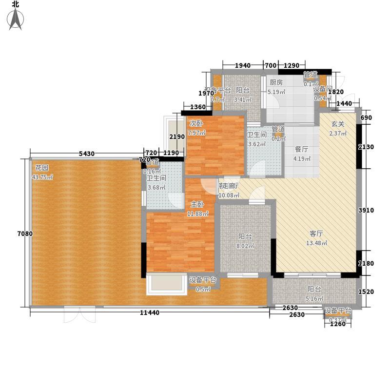 中泰峰境97.20㎡中泰峰境户型图A栋首层06户型3室2厅2卫1厨户型3室2厅2卫1厨