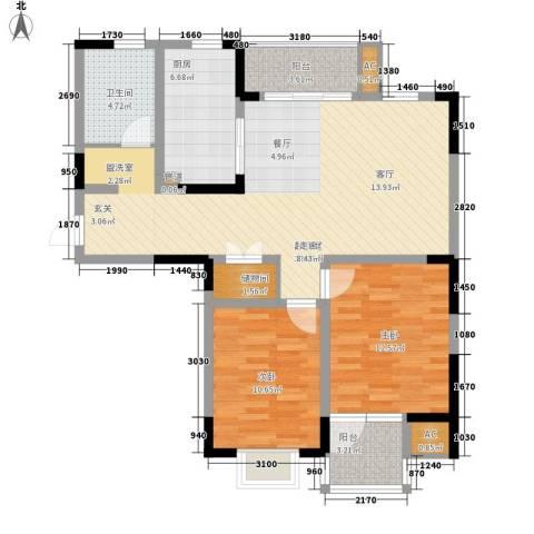 发展今日嘉园2室0厅1卫1厨101.00㎡户型图