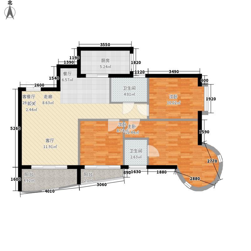 佳苑福邸户型图户型图 3室2厅2卫1厨