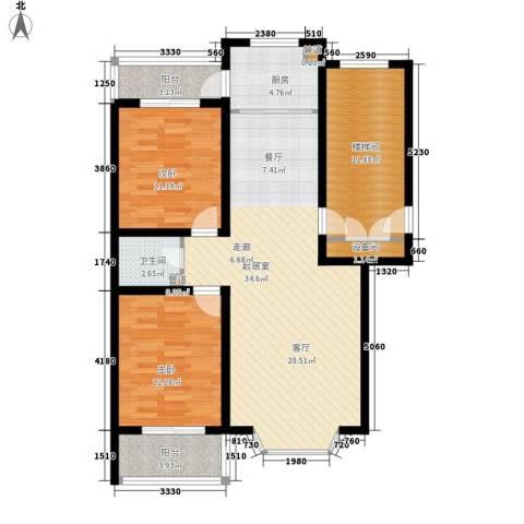 新安家园2室0厅1卫1厨99.00㎡户型图