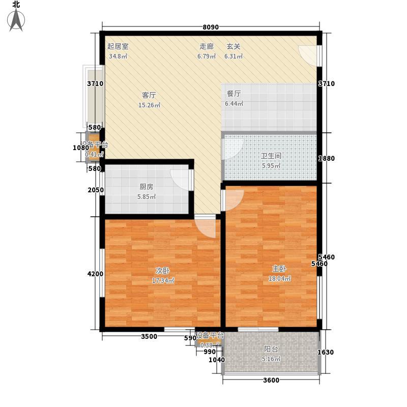 圣湖万年花城107.26㎡圣湖万年花城户型图户型42室2厅1卫1厨户型2室2厅1卫1厨