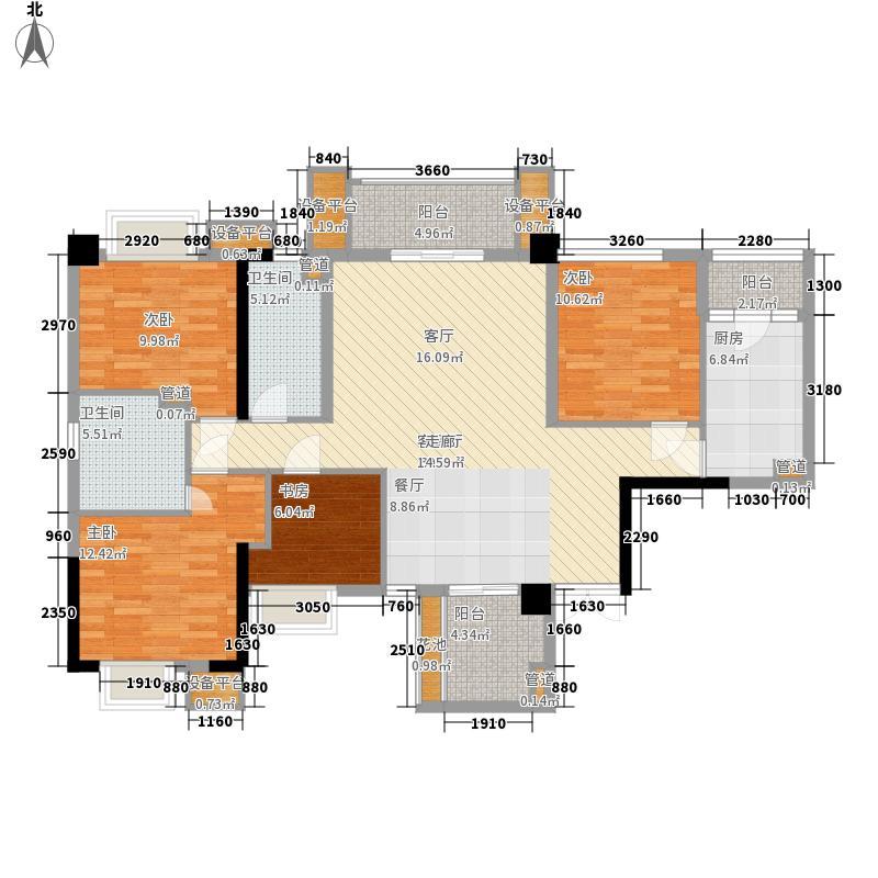 泰然环球时代中心环球时代中心A1户型5室2厅2卫1厨