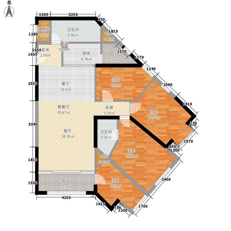 海德堡小镇136.10㎡A1户型4室2厅2卫1厨